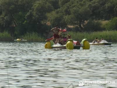 Baño en Lagunas de Ruidera; amigos madrid